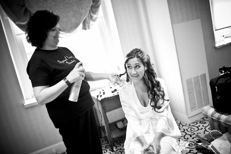 Boston Park Plaza Hotel Weddings, Bride getting ready, Bridal hairstyles, boston bridal