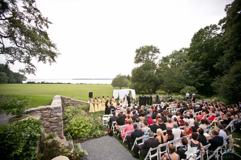 Blithewold Mansion Wedding, Wedding Ceremony, Wedding Guests, Summer Wedding, Bride and Groom