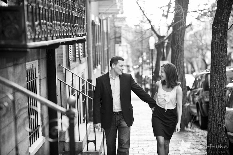 boston engagements, boston engagement portraits, engaged, beacon hill engagement session