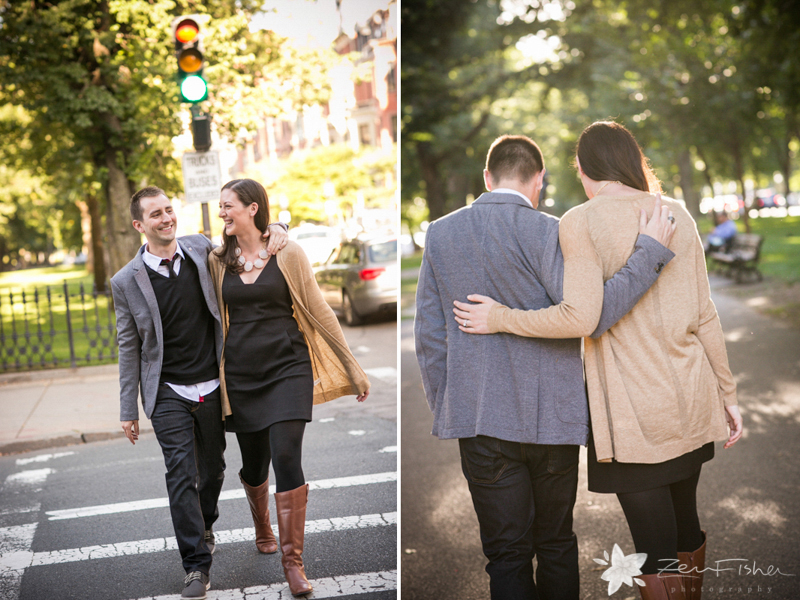 Boston Engagement Portraits, Boston Engagements, Commonwealth Greenway Engagement Session,