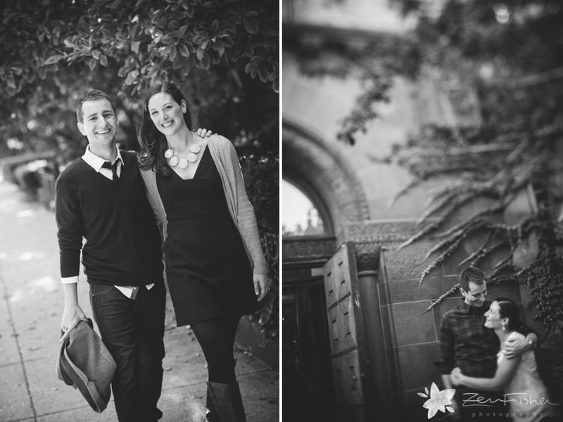 Boston Engagement Portraits, Boston Engagements, Black and White Engagement Portraits