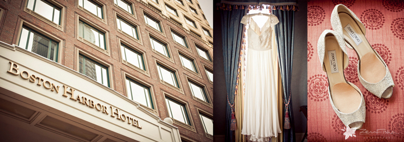 Boston Harbor Hotel Wedding, Boston Weddings, Wedding Gown, Bridal Shoes, Boston Bridal