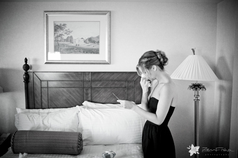 Boston Harbor Hotel Wedding, Bridesmaids Getting Ready, Black and White Wedding Photography