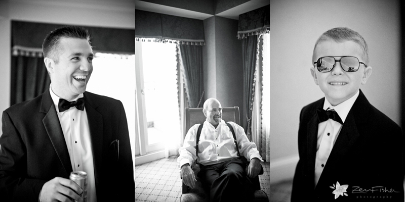 Boston Harbor Hotel Wedding, Groomsmen Getting Ready, Wedding Portraits, Black & white wedding photo