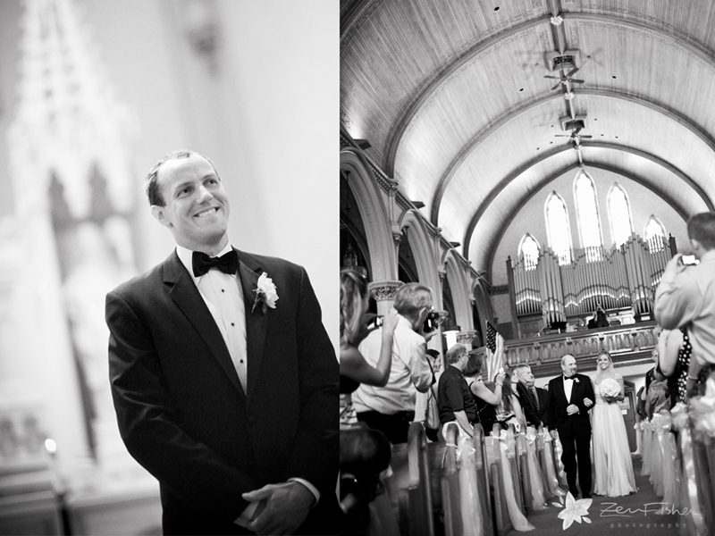 zev fisher photography, boston weddings, church wedding, wedding ceremony, bride & groom