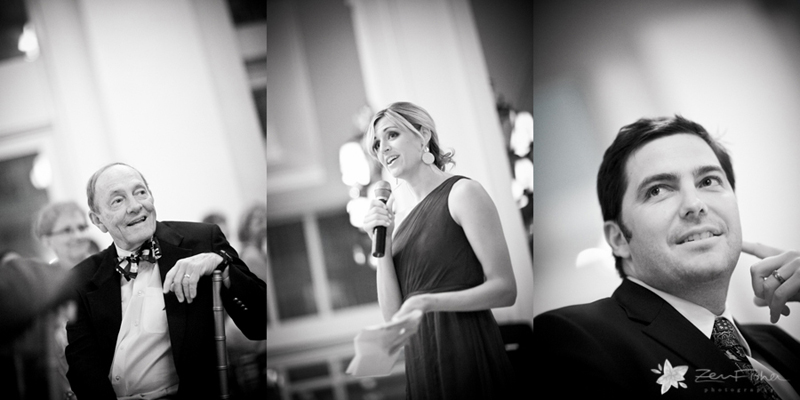 Boston Harbor Hotel Wedding, Wedding Reception, Speech, Zev Fisher Photography, Boston Weddings