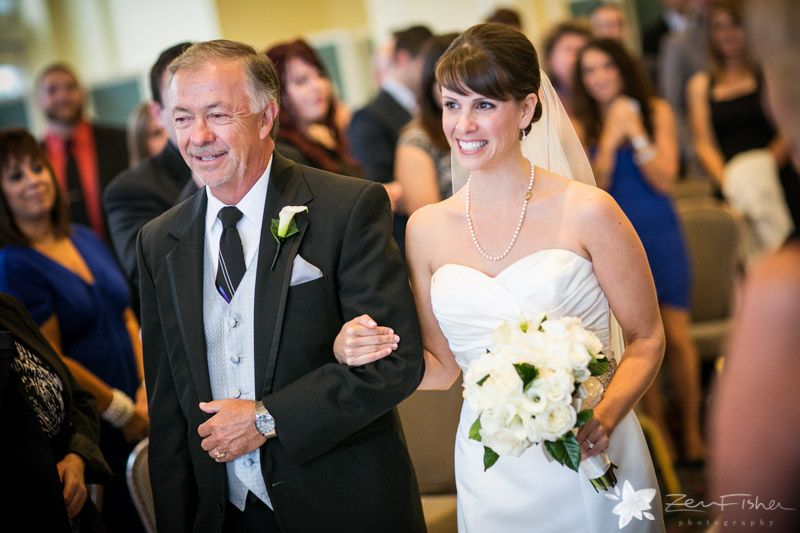 Boston Harbor Hotel, Bride walking down the aisle, Father of the Bride, Wedding Portraits