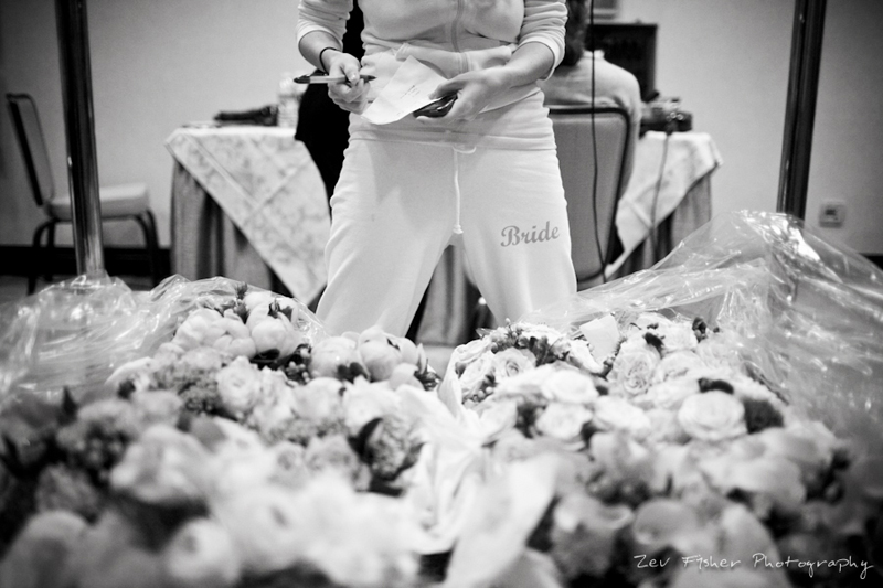Boston Bridal, Bride Getting Ready, Bridal Bouquets, Black & White Wedding Photography