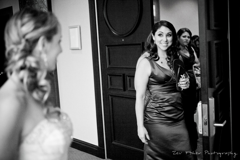 Boston Bridal, bride getting ready, bridesmaids, bridal party, black and white wedding photography