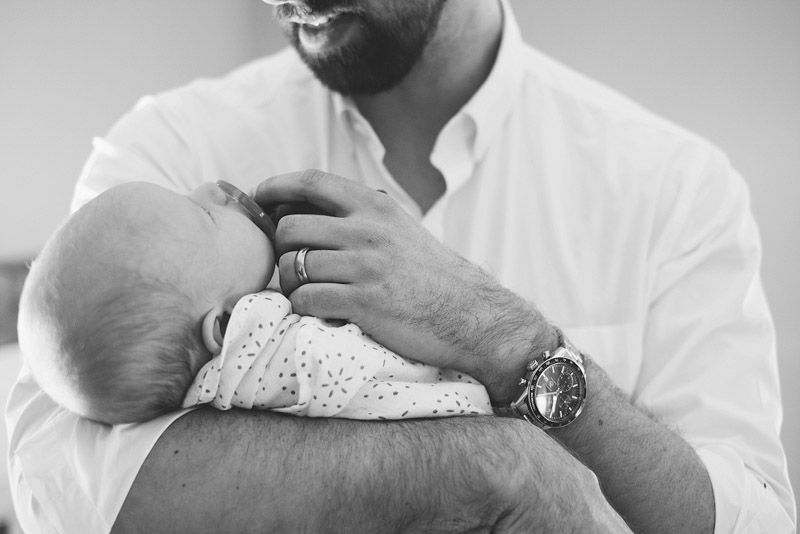 dad & baby, black and white newborn photography boston, natural light