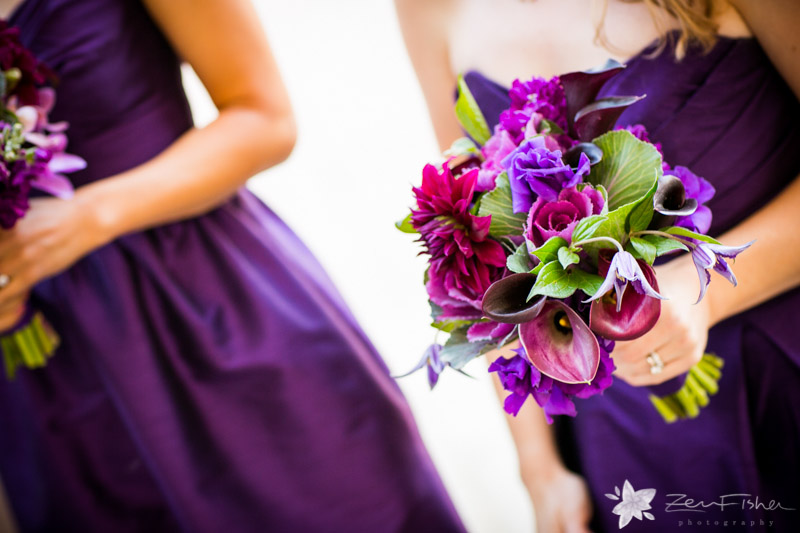 Boston Public Library Weddings, Bridesmaids, Purple Bridesmaids, Bridal Bouquets, Boston Bridal