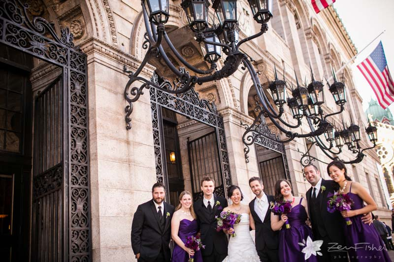 Boston Public Library Weddings, Bride & Groom, Bridal Party Wedding Portraits, boston bridal