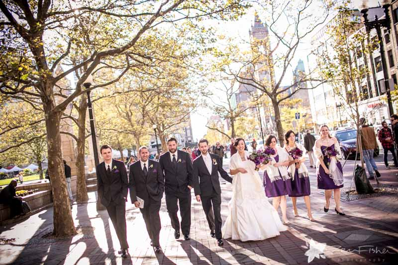 Boston Public Library Weddings, Bride & Groom, Bridal Party, Wedding Portraits, boston bridal