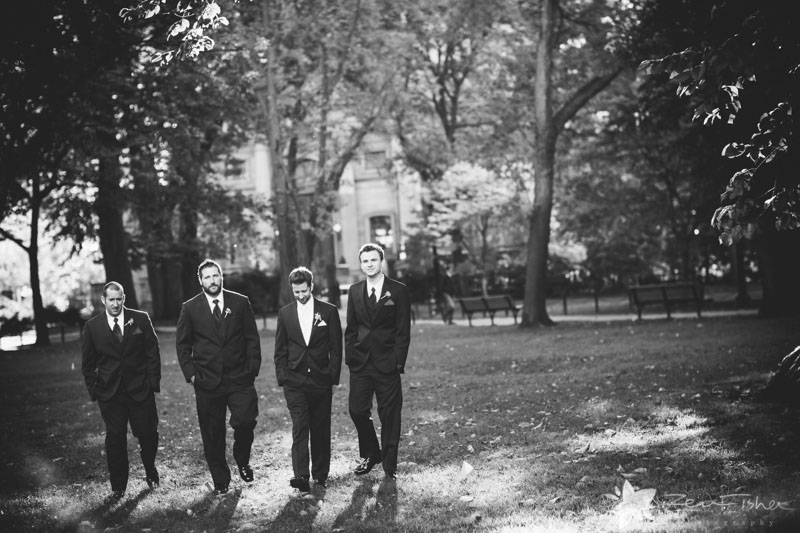 Boston Public Library Weddings, Groom, Groomsmen, Wedding Portraits, boston bridal