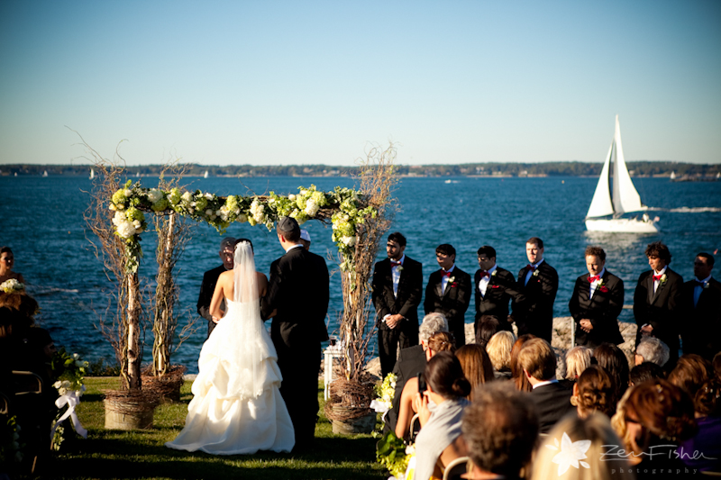 Lawrence yacht club wedding
