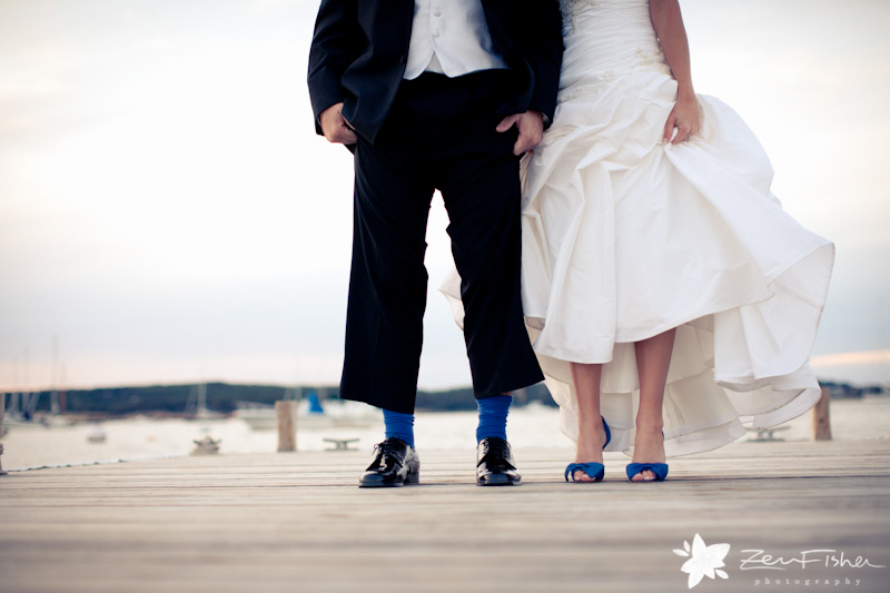 Eastern Point Yacht Club Wedding, Bride and Groom, His and Hers, Wedding Portrait, Seaside Wedding