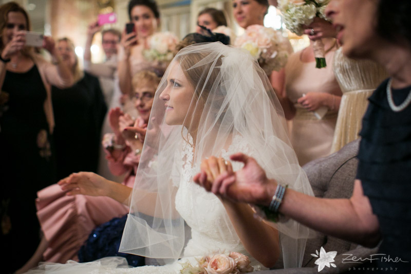 Orthodox Jewish Wedding Boston Fairmont Copley Bride And Groom Bridal Veil