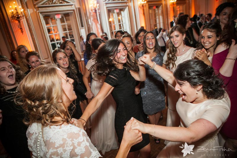 Orthodox Jewish Wedding Boston Fairmont Copley Reception Guests Dancing
