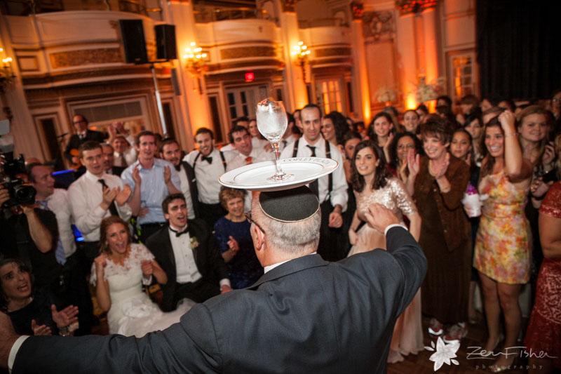 Orthodox Jewish Wedding Boston Fairmont Copley Reception Hora Guests