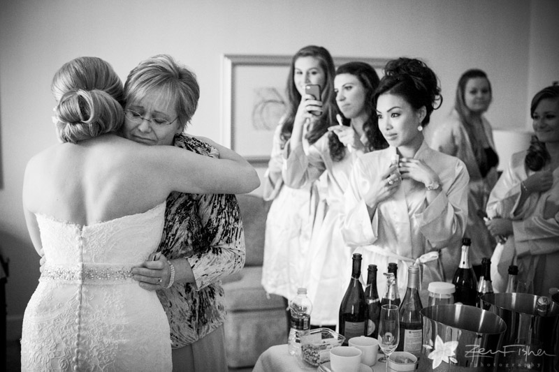 Four Seasons Boston Wedding, Bride, Bridesmaids, Mother of the Bride, B&W Wedding Photography