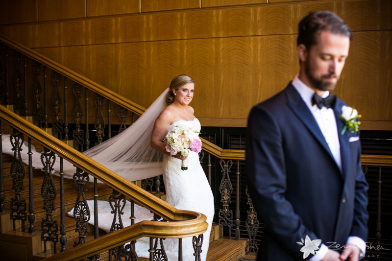 Four Seasons Boston Wedding, Bride and Groom, First Look, Wedding Gown, Grooms Attire, Bridal Bouque