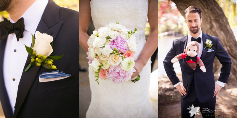 Four Seasons Boston Wedding, Bride and Groom, Boutonniere, Bridal Bouquets, Grooms Attire