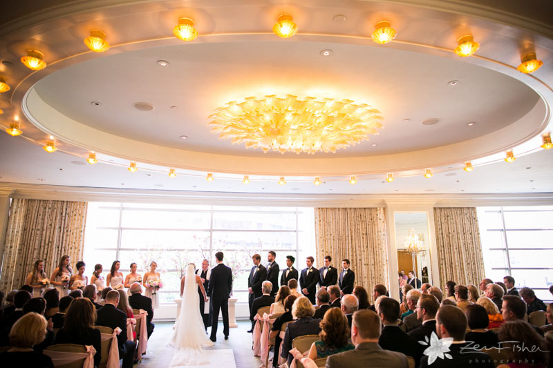 Four Seasons Boston Wedding Ceremony Bride And Groom Weddings