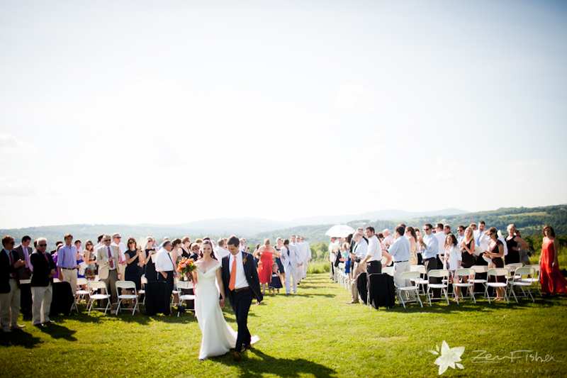 Vermont Wedding, Mountain View Farm Wedding, Bride & Groom, Wedding Ceremony, Zev Fisher Photography