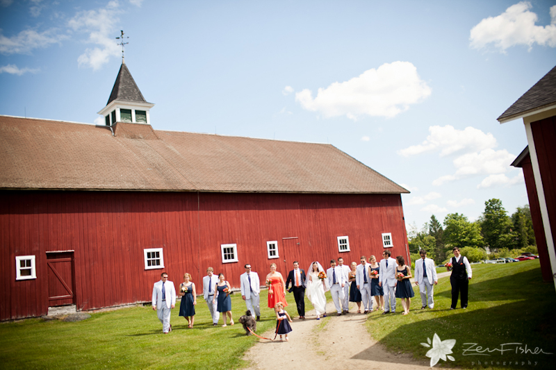Vermont Wedding, Mountain View Farm Wedding, Bridal Party, Wedding Ceremony, Zev Fisher Photography