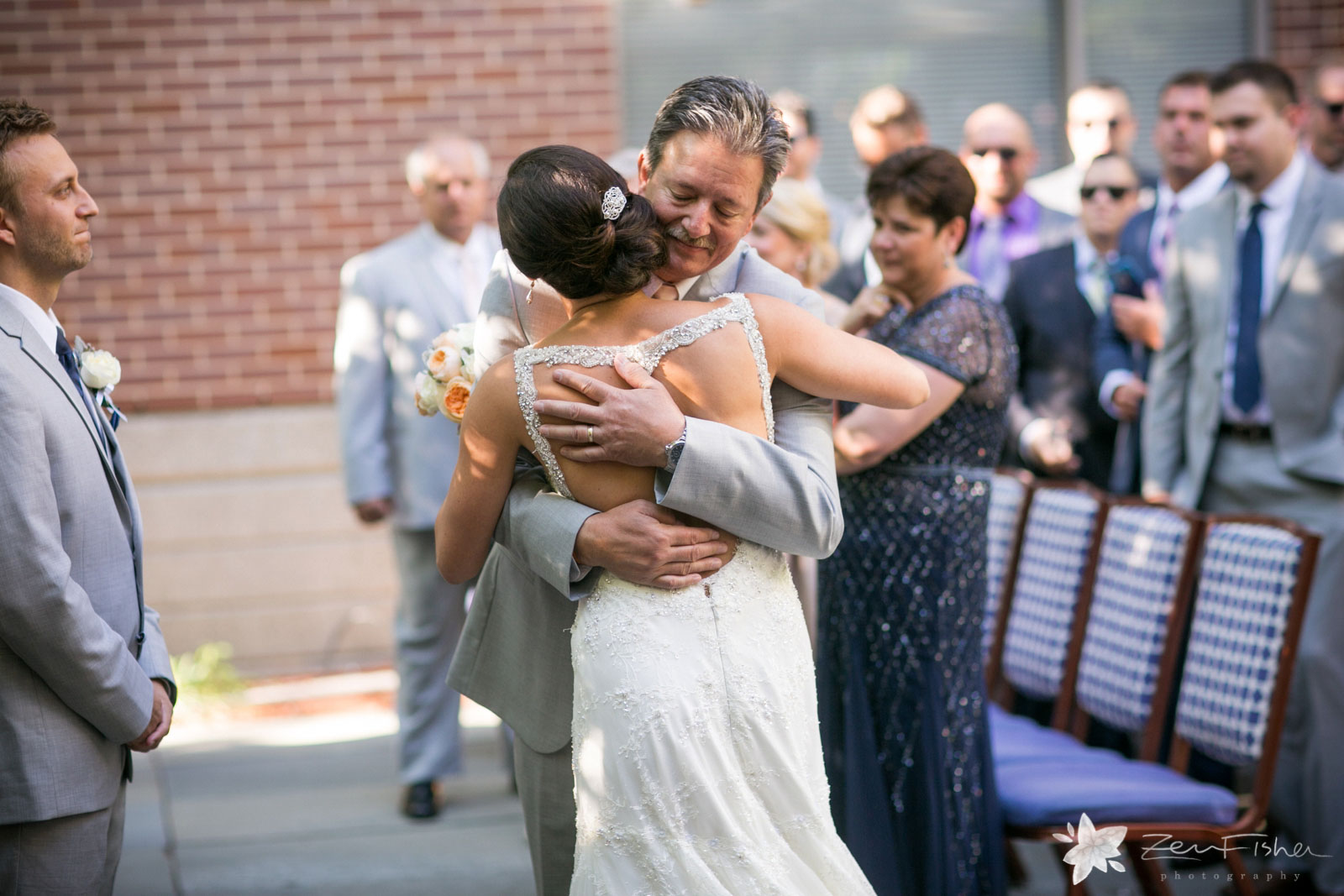 Liberty Hotel Boston wedding, Boston wedding photography, father giving away bride, bride and father