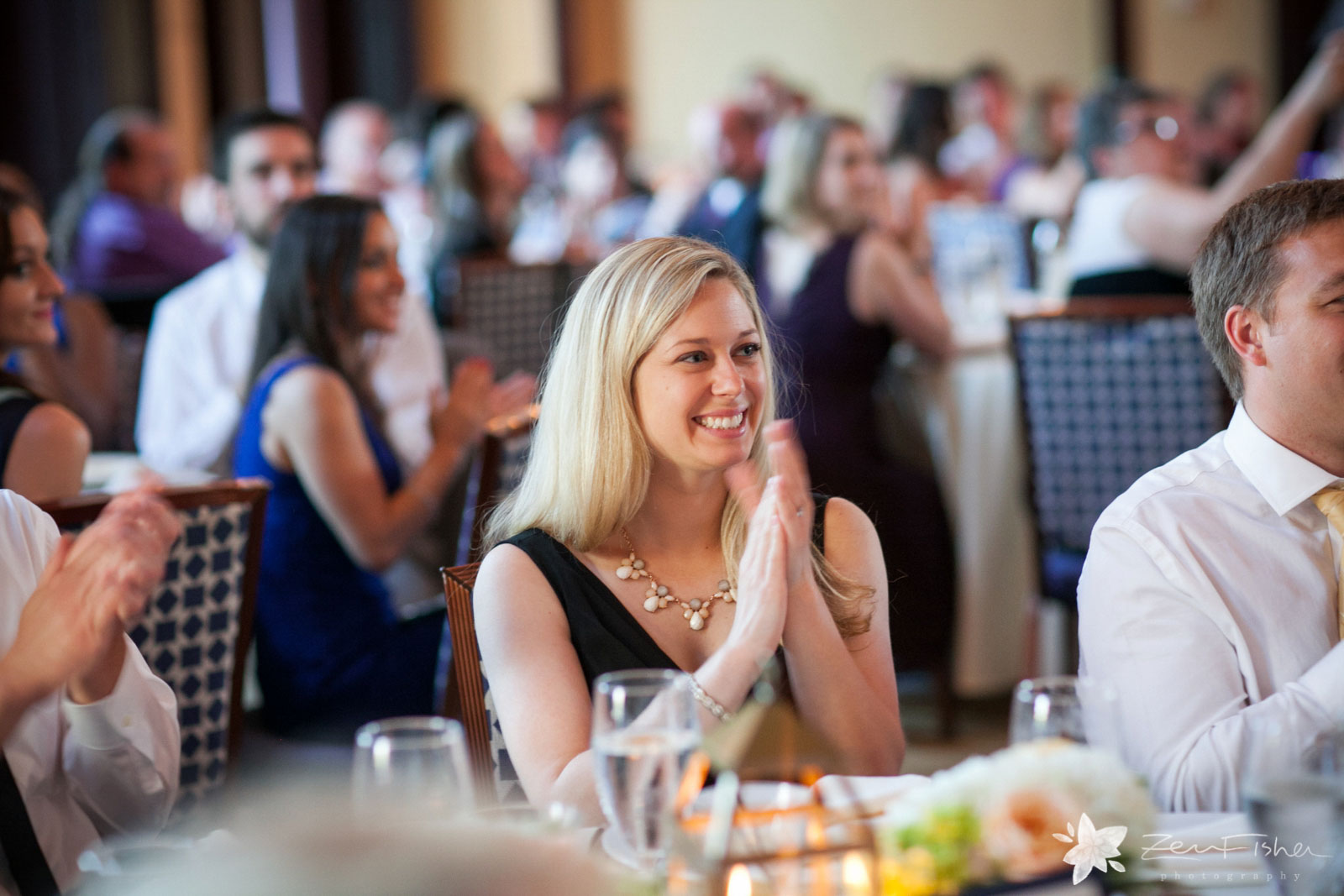 Liberty Hotel Boston wedding, Boston wedding photography, guest reactions during wedding reception