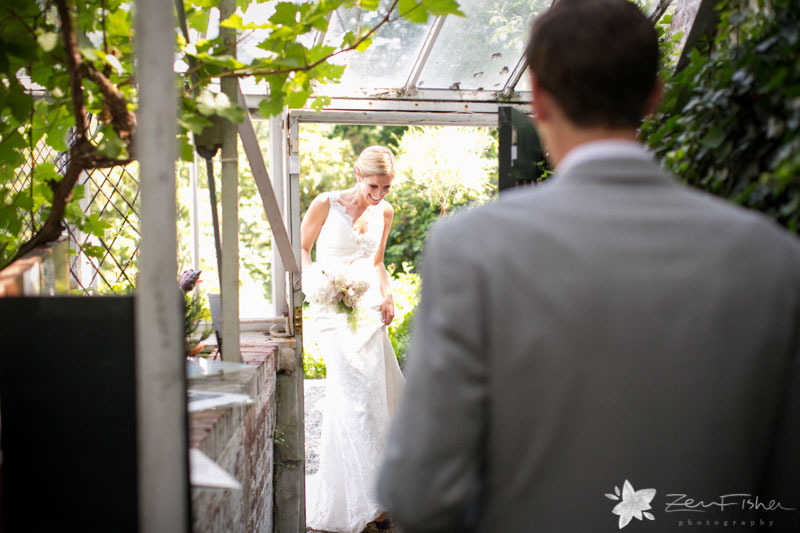 Weddings at the Lyman Estate, Bride and Groom, First Look, Romantic Wedding Portraits, Boston Bridal