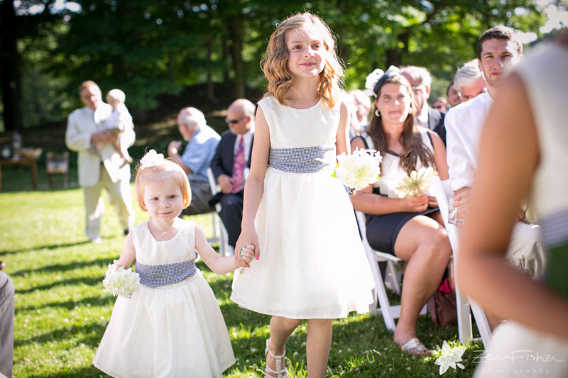 Weddings at the Lyman Estate, Wedding Ceremony, Flower Girls, Boston Bridal, Boston Weddings