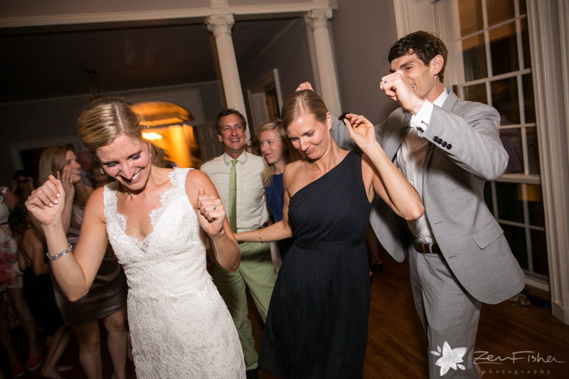 Weddings at the Lyman Estate, Wedding Reception, Bride and Groom, Wedding Guests, Dancing