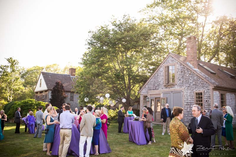 Massachusetts Barn Wedding, Cocktail Hour, cocktails on the lawn, wedding guests, farm wedding