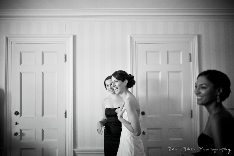 Ocean Edge Resort Wedding, Bride Getting Ready, Black and White Wedding Photography, Bridesmaids