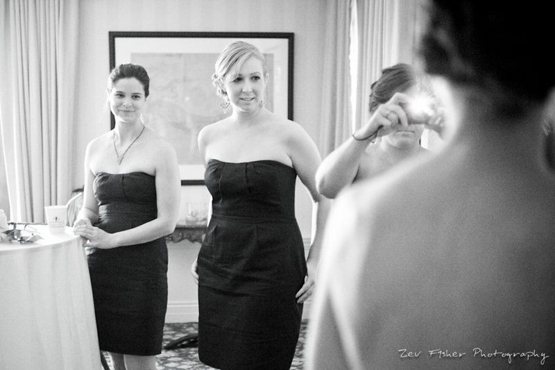 Ocean Edge Resort Wedding, Bridesmaids, Getting Ready, Bridal Party, B&W Wedding Photography