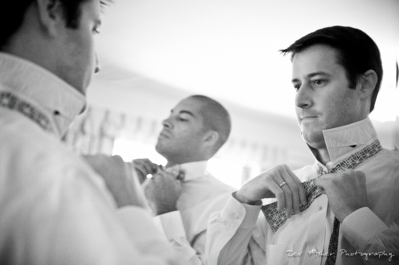 Ocean Edge Resort Wedding, Groomsmen Getting Ready, Grooms Attire, B&W Wedding Photography