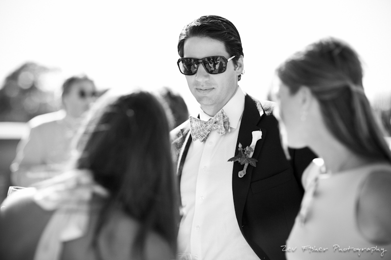 Ocean Edge Resort Wedding, cocktail hour, wedding guests, black and white wedding photography