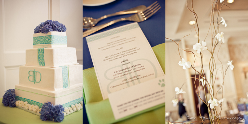 Ocean Edge Resort Wedding, Wedding Reception, Reception Details, Wedding Cake, Wedding Menu