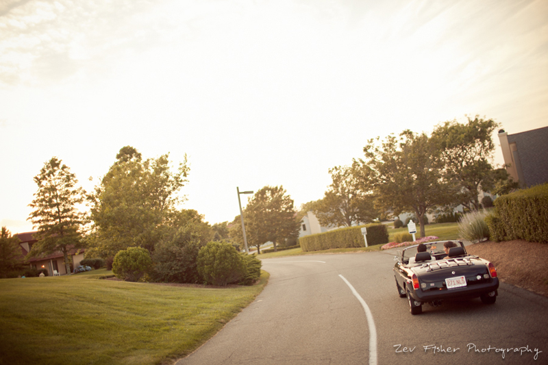 Ocean Edge Resort Wedding, Bride & Groom, Wedding Portraits, Wedding Car, Just Married