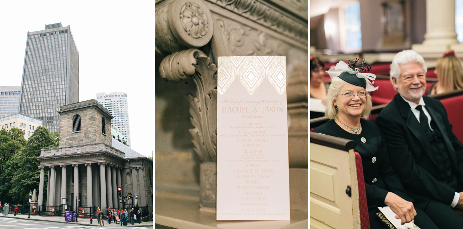 Vintage-inspired wedding at 1920s era King's Chapel in Boston with art deco details