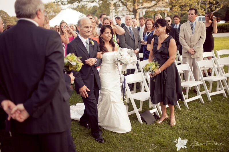 The Pierce House Wedding, Wedding Ceremony, Bride, Father of the Bride, Boston Weddings