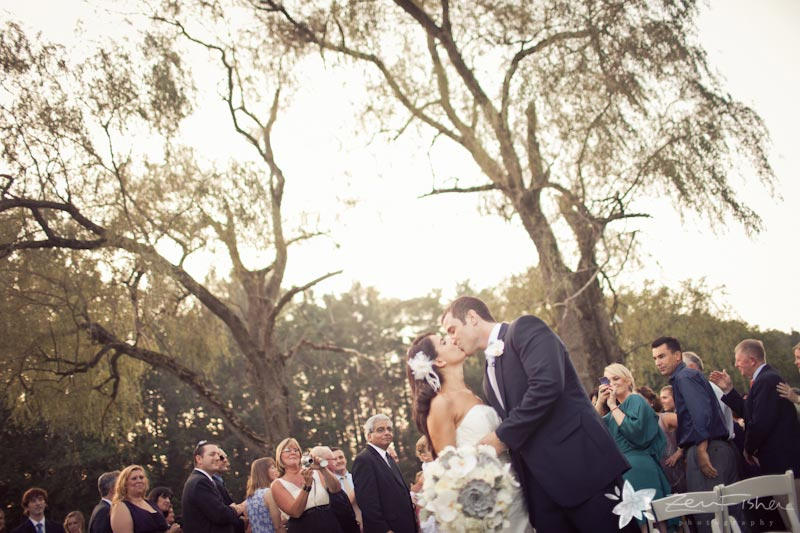 The Pierce House Wedding, Bride and Groom, Wedding Ceremony, Wedding Kiss, Boston Weddings