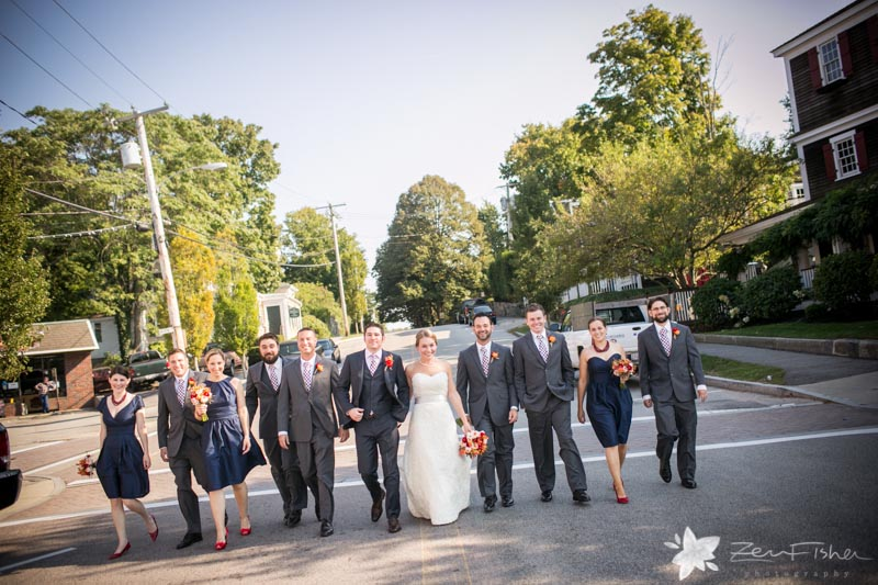 Red Lion Inn Wedding, Bridal Party, Bride & Groom, Bridesmaids, Groomsmen, Boston Bridal