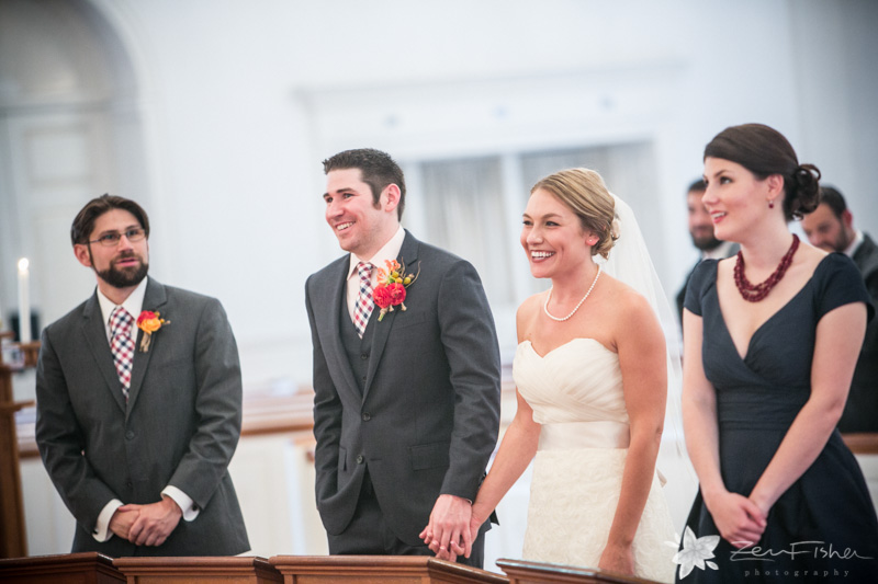 Red Lion Inn Wedding, wedding ceremony, bride and groom, maid of honor, best man, boston weddings