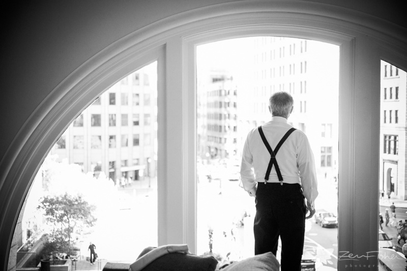 The State Room Boston Wedding, Groomsmen getting ready, bridal party, b&w wedding portraits