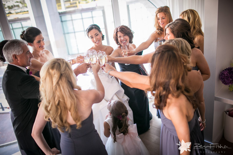 The State Room Boston Wedding, Bridal Party, bride, bridesmaids, champagne toast, boston bridal