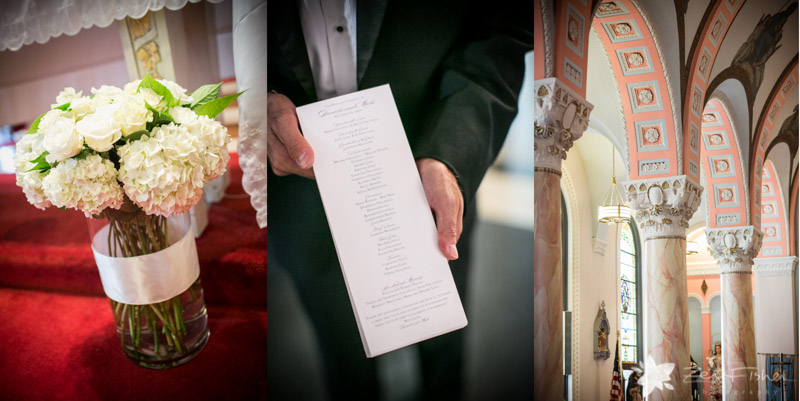 The State Room Boston Wedding, Sacred Heart Church Boston, Wedding Flowers, Wedding Program