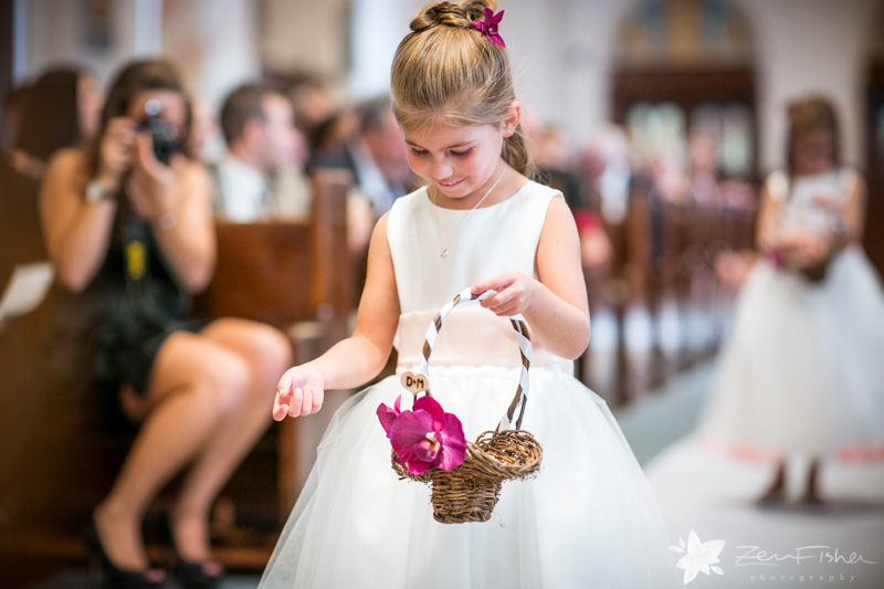 The State Room Boston Wedding, Sacred Heart Church Boston, Wedding Ceremony, Flower Girl